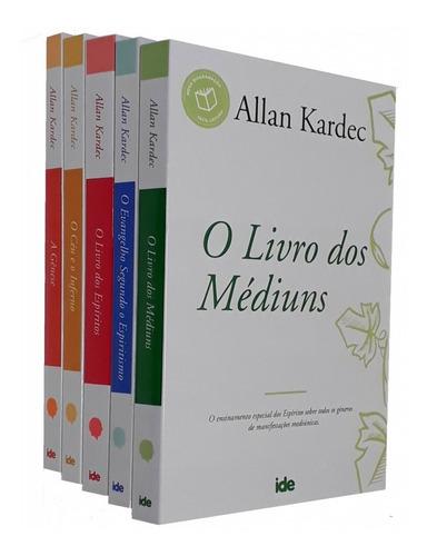 Imagem 1 de 2 de Coleção Allan Kardec 05 Livro + Brinde