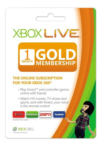 Tarjeta Xbox Live Gold - 1 Mes - Excelente Precio!!