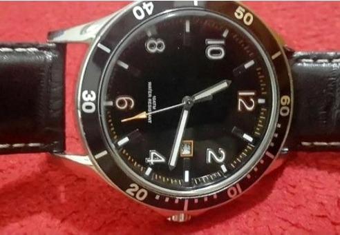 Relógio Social Preto Elegante Vintage Quartz Pulseira Couro
