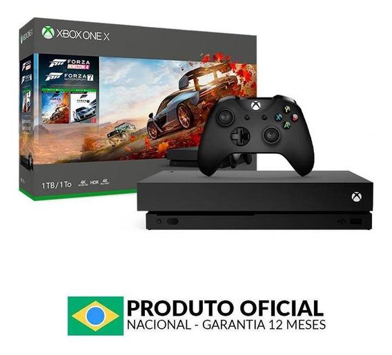 Console Xbox One X 1tb Pacote Forza Horizon 4 Microsoft