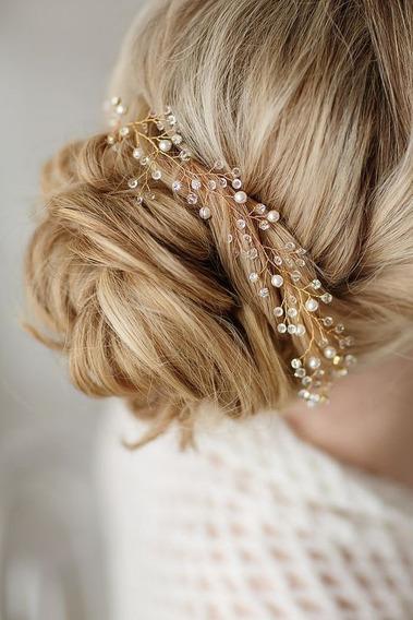 Corona, Guía De Cristales Y Perlas Tocado Accesorios Novia
