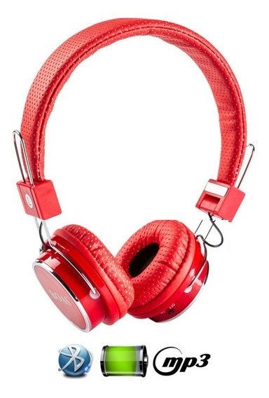 Fone De Ouvido Bluetooth Stereo Micro Sd Mp3 Rádio Fm Player