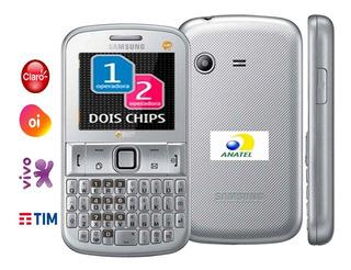 Celular 2 Chip Samsung Gt-e2222l (chat 222), 2 G, Entrada Antena Raro Simples Nacional Anatel, Novo, Rádio, Cartão 2 Gb