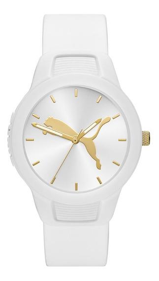 Reloj Dama Puma Reset V2 P1013 Color Blanco De Poliuretano