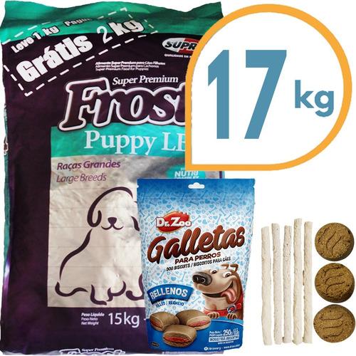 Comida Perro Cachorro Frost Large Breed 17 Kg + Regalo