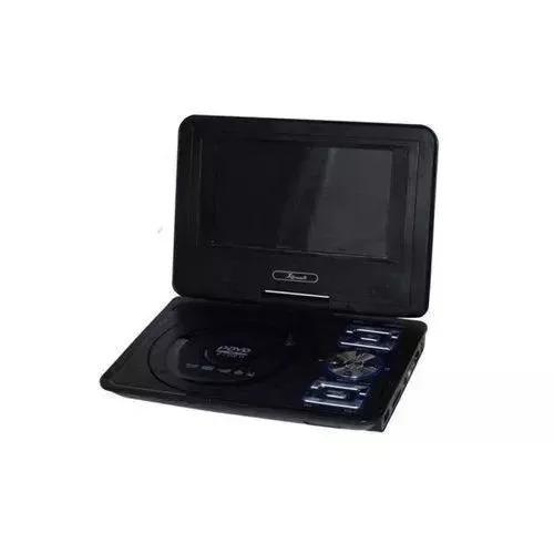 Dvd 7 Pol Portátil Com Receptor Tv/game/sd/usb/rádiofm D115
