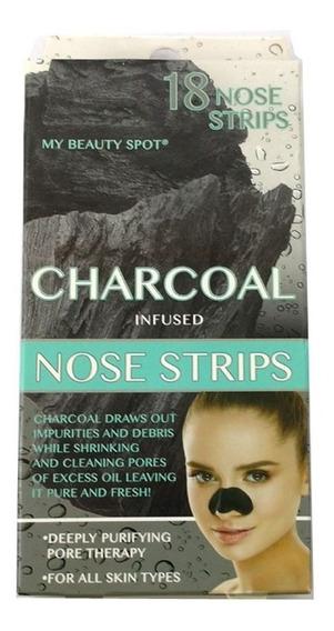 18 Tiras De Nariz Infundidas A Carvão - Nose Strips Charcoal
