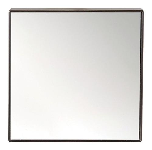 Espelho 14cm Quadrado Ventosa Fixação Box Banheiro Maquiagem