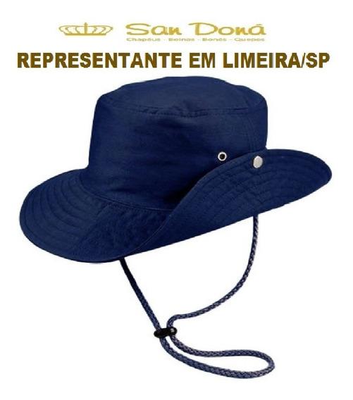 Chapéu Australiano Trilha Tecido Azul Marinho 54/61 San Dona