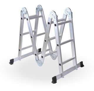 Escalera Multifuncion Aluminio Articulada Plegable 4x3 Reforzada 12 Escalones - Prestigio