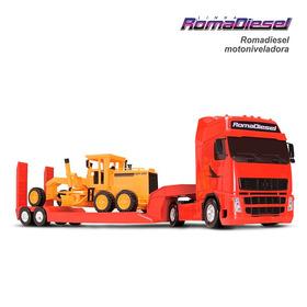 Caminhão Diesel + Trator Motoniveladora Original Roma