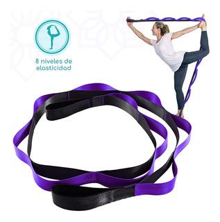 Alça Stretch Strap De Yoga 1.8m Para Yoga Pilates Com Anel D