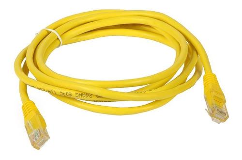 Imagen 1 de 2 de Cable De Red Patch Cord Cat6 2.10mts 7ft Ethernet Amarillo
