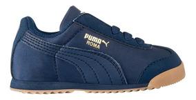 Tenis Casual Choclo Puma Roma Basic Summer Kids 157292 Azul