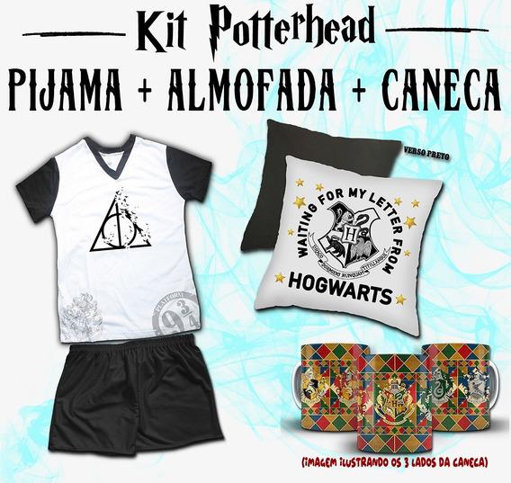 Super Kit Harry Potter - Pijama Feminino + Almofada + Caneca