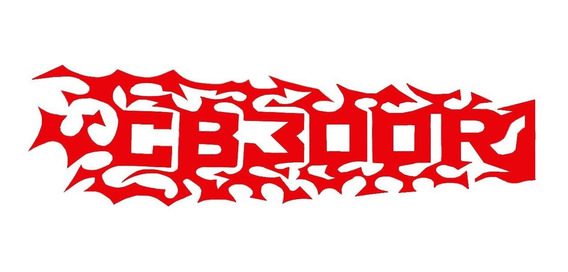 Adesivo Vinil Cb300r Cor Vermelho Modelo Chamas