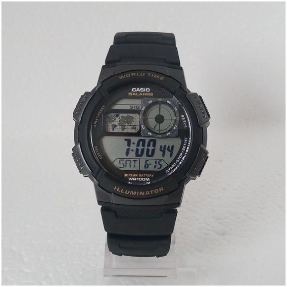 Relógio Casio Original Masculino Ae1000w Horario Mundial