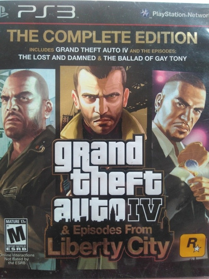 Grand Theft Auto Lv E Episodes From Liberty City Ps3
