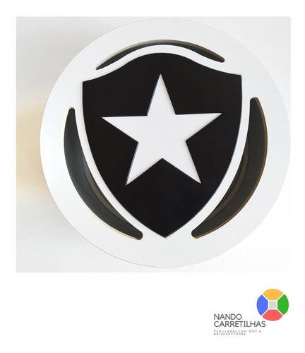 Carretilha Para Pipa De Madeira 32cm Mdf - Botafogo- Catraca