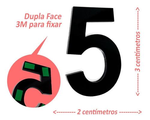 Imagem 1 de 3 de Números E Letras De Apartamento 3cm Em Acrílico 3mm C/ Molde