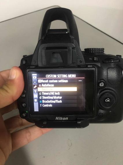 Nikon Camera Modelo D5000, 4 Lentes, 3 Baterias E Muito Mais