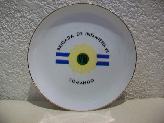 Plato Porcelana Verbano Brigada De Infanteria - 20 Cm.