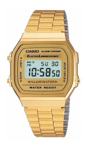 Reloj Casio Retro A-168wg-9a Para Todos Los Estilos - Unisex