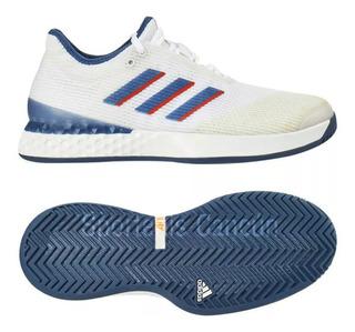 Tenis adidas Adizero Ubersonic 3 Blanco Azul
