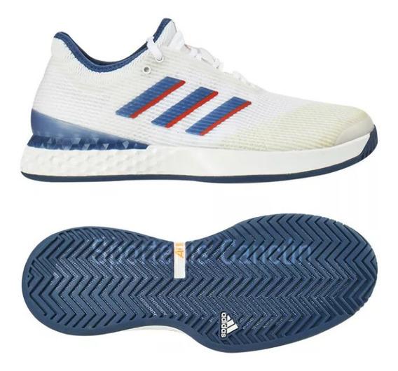 Tenis adidas Adizero Ubersonic 3 Blanco Azul Caballero