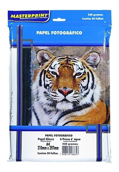 250 Folhas Papel Glossy Fotográfico 230g Masterprint