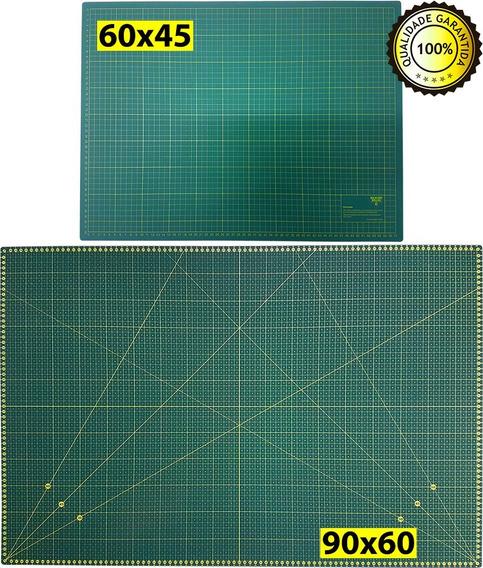 02 Bases Corte A1 A2 60x45 90x60 Dupla Face Patchwork Scrap