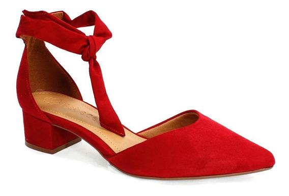 Sapato Feminino Camurça Suede Bebecê Bordô