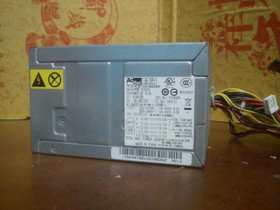 Fuente De Poder Lenovo Acbel Pc6001 280w Atx