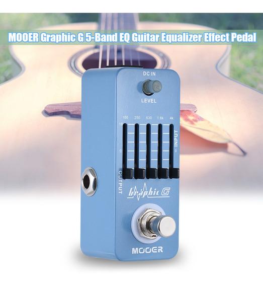 Mooer Graphic G Mini Equalizador Efeito De Guitarra Eq De 5