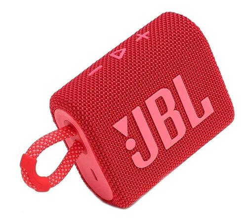 Alto-falante JBL Go 3 portátil com bluetooth red
