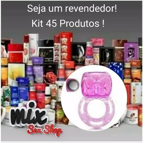 Kit Erotico 45 Produtos Anel Vibro Sexshop Sexshop Revenda