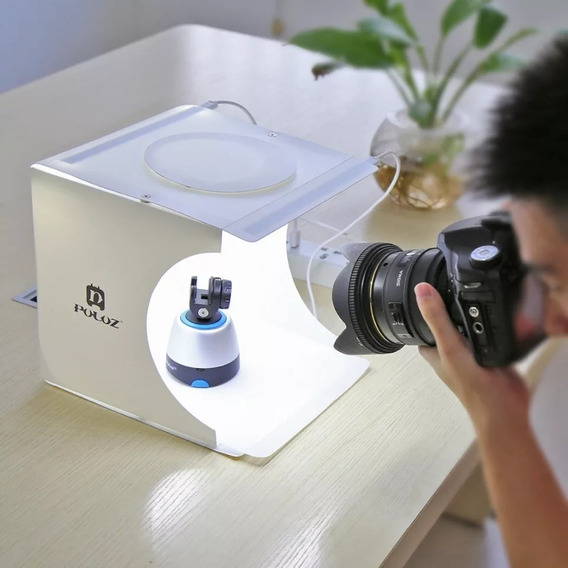 Fundo Fotográfico Estúdio Box Com Iluminação Portátil