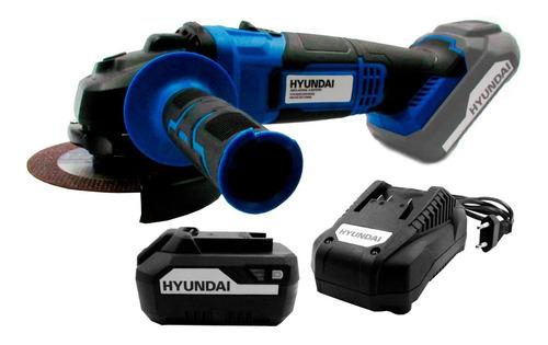 Kit Hyundai Amoladora Angular + Bateria 4,0ah + Cargador Cuo
