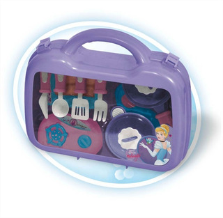 Set De Cocina Disney Princesas Ditoys Valija Accesorios Niña