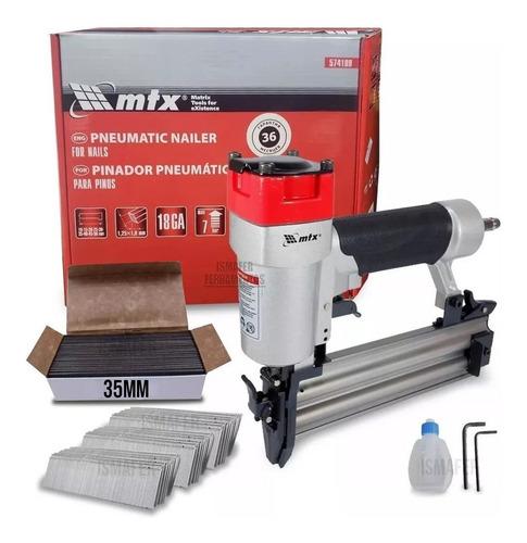 Pinador Pneumatico Para Pinos Mtx Profiss. + 5000 Pinos 35mm