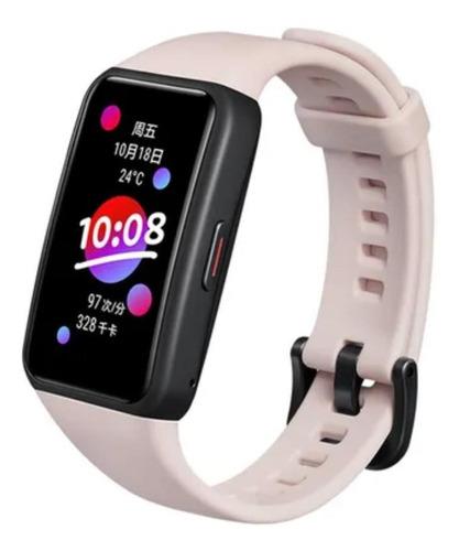 "Imagen 1 de 1 de Smartwatch Honor Band 6 1.47"" malla  coral pink FRA-B19"