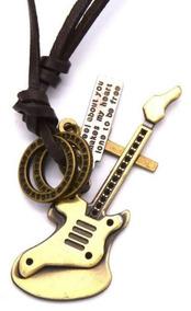 Colar Decovian Guitarra Bronze - Imperdível