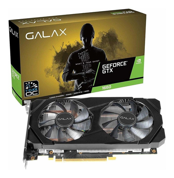 Placa de vídeo Nvidia Galax GeForce GTX 16 Series GTX 1660 60SRH7DSY91C 6GB