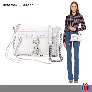Rebecca Minkoff Bolso Mini Mac Blanco -65% Original Nuevo