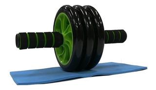Rueda Abdominal Triple Rodillo Ejercicio Brazos Espalda Gym
