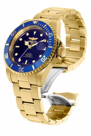 Relógio Invicta 8930ob Automático Masculino Banhado Ouro 18k