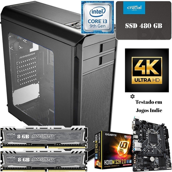 Pc Gamer Cpu Ssd 480 Gb Radeon Rx Ou Nvidea Gtx - 16 Gb Ram