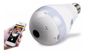 Lâmpada Espiã Câmera Infravermelho Ip Led Wifi Hd Panorâmica