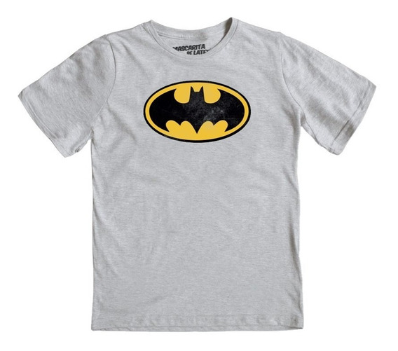 Playera Mascara De Latex Batman Logo Niño