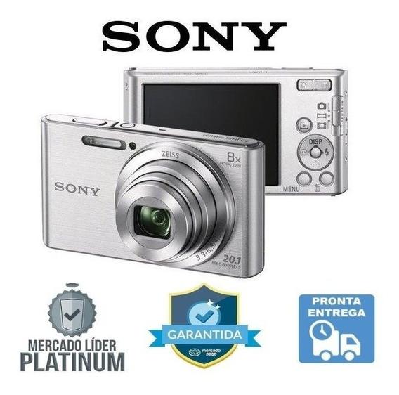 Câmera Sony Cyber Shot Dsc-w830 20.1 Mp Zoom 8x Hd Prata Nfe